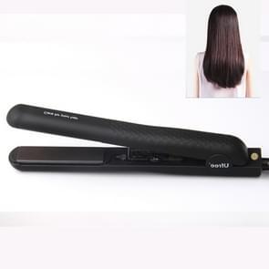 Ufree U-330 Ceramic Plate Adjustable Temperature Hair Straightener Electric Plywood Hairdressing Tools for Hair, EU Plug (Black)