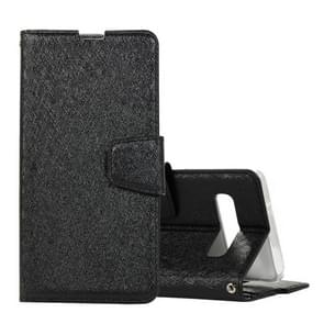 Silk Texture Horizontal Flip Leather Case for Galaxy S10, with Holder & Card slots & Wallet & Photo Frame (Black)