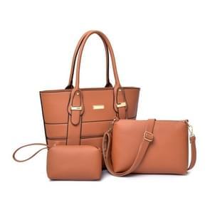 3 in 1 PU Leather Crossbody Single-shoulder Bag Women Handbag
