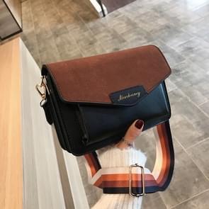 Vrouwen klein vierkant Bag schoudertas Fashion Messenger Bag (zwart)