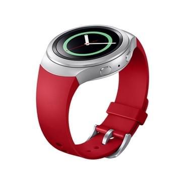 Voor Samsung Gear S2 Watch Solid Kleur siliconen Watchband(rood)