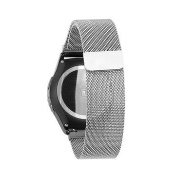 Voor Samsung Gear S2 Classic horloge lus magnetische sluiting Clasp roestvrij staal Watchband(zilver)