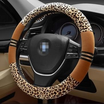 Luipaard graan Steering Wheel Cover  aanpassing stuurwiel Diameter: 39-40 cm