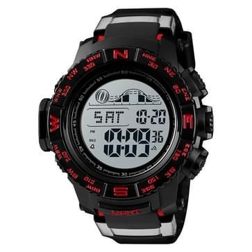 SKMEI 1380 Men Fashionable Outdoor 50m Waterproof Digital Watch Large Dial Sports Wrist Watch(Red)