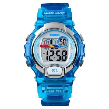 SKMEI 1450 Women Transparent Digital Watch 50m Waterproof Sports Watch with LED Light(Blue)