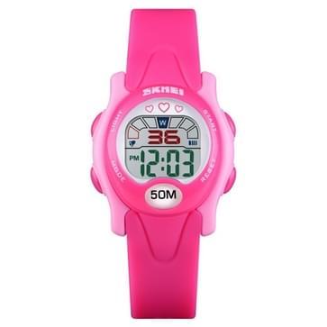 SKMEI 1478 multifunctionele kinderen digitaal horloge 50m waterdichte sport horloge (roze rood)