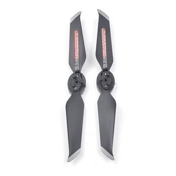Een paar STARTRC LED rode lamp kralen DIY creatieve tekst Flash propeller voor DJI Mavic 2 (zwart)