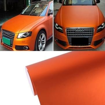 7 5 m * 0.5 m ijsblauw Metallic mat ijzige ijs Car Decal Wrap Auto inwikkeling voertuig Sticker motorfiets blad Tint Vinyl luchtbel (oranje)
