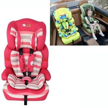 Kinderen kinderen auto veiligheid peuter Booster rood gestreepte draagbare vervoerder zitkussen  passen leeftijd: 9 maanden - 12 jaren oud