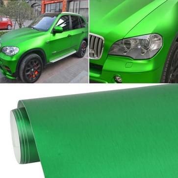 1.52 * 0 5 m waterdicht PVC draad tekening geborsteld chroom Vinyl Wrap Sticker auto ijs Film Stickers auto Styling mat geborsteld auto Wrap Vinyl Film (groen)