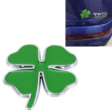 Vier Leaf Clover kruid geluk symbool Badge embleem Labeling Sticker Styling auto Dashboard decoratie  grootte: 4 * 3.3 cm
