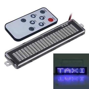 DC 12V auto LED programmeerbare Showcase bericht teken Scrolling Display verlichting bord met afstandsbediening (blauw licht)