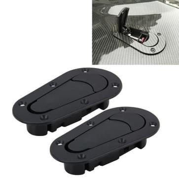 Een paar auto Cover Lock bewerkt Hood Lock generaal Racing Car Cover Locks(Black)