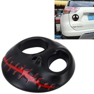 Schedel bot vorm Auto Sticker 3D metalen mode auto Stickers(Black)