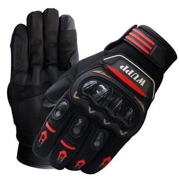 Motorfiets handschoenen Touch scherm Waterdicht ademend Wearable anti-slip weerstand zomer Winter Full-vinger beschermende handschoenen  maat: L