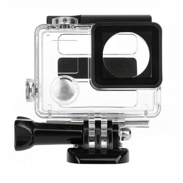 2 in 1 Waterdichte beschermende box duik behuizing + Externe Mini Stereo MIC microfoon met 17cm 3.5mm naar Mini USB 10 Pin Adapter kabel voor HERO 4/5 SESSION / (2018) 7 / 6 / 5 / 4 / 3+ / 3 / 2 / 1, microfoon grootte: 5.5 x 5.5 x 1.5 cm