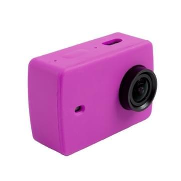 Siliconen gel beschermende omhulsel hoes voor Xiaomi Xiaoyi Yi II sport actie camera(paars)
