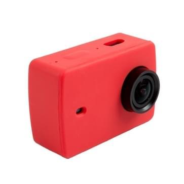 Siliconen gel beschermende omhulsel hoes voor Xiaomi Xiaoyi Yi II sport actie camera(rood)