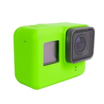 For GoPro HERO5 siliconen Housing beschermings hoesje Cover Shell(groen)