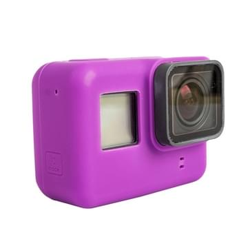 For GoPro HERO5 siliconen Housing beschermings hoesje Cover Shell(paars)