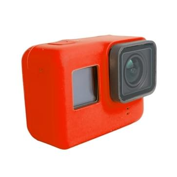 For GoPro HERO5 siliconen Housing beschermings hoesje Cover Shell(rood)