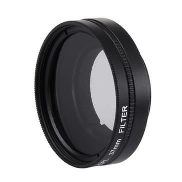 JUNESTAR voor Xiaomi Xiaoyi Yi II 4K Sport Actie Camera Professioneel 37mm CPL Filter + Lens beschermings Cap