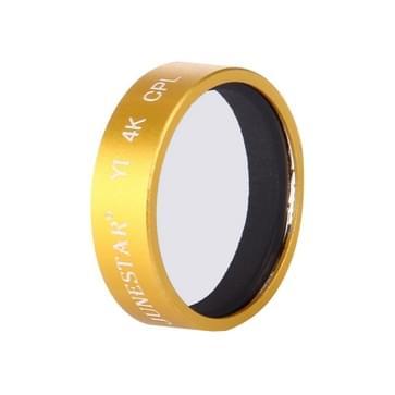 JUNESTAR voor Xiaomi Xiaoyi Yi II 4K Sport Actie Camera Professioneel CPL Filter(Gold)