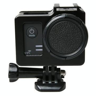 Universeel Aluminium Alloy beschermende behuizing met 40.5mm Lens diameter & Lens beschermings Cap voor SJCAM SJ5000 & SJ5000X & SJ5000 Wifi Sport Actie Camera(zwart)
