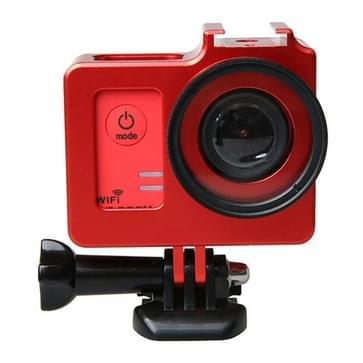 Universeel Aluminium Alloy beschermende behuizing met 40.5mm Lens diameter & Lens beschermings Cap voor SJCAM SJ5000 & SJ5000X & SJ5000 Wifi Sport Actie Camera(rood)