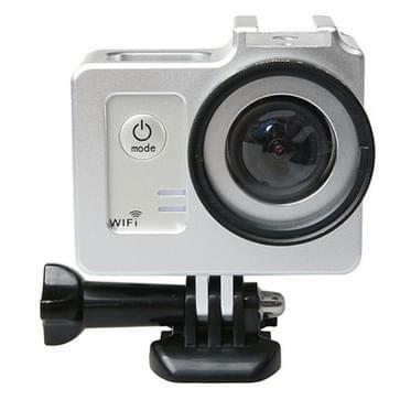 Universeel Aluminium Alloy beschermende behuizing met 40.5mm Lens diameter & Lens beschermings Cap voor SJCAM SJ5000 & SJ5000X & SJ5000 Wifi Sport Actie Camera(zilver)