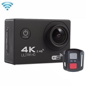 F60R 2.0 inch scherm 4K 170 graden groothoek WiFi Sport Actie Camera Camcorder met waterdichte behuizing & afstandsbediening, ondersteunt 64GB Micro SD kaart(zwart)