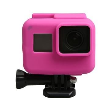 Orgineel voor GoPro HERO5 siliconen Border Frame Mount Housing beschermend hoesje Cover Shell(roze)