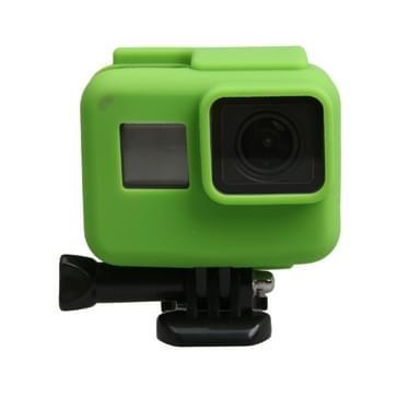 Orgineel voor GoPro HERO5 siliconen Border Frame Mount Housing beschermend hoesje Cover Shell(groen)