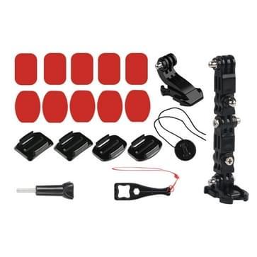 Fiets helm zelfklevende multi-joint Arm vaste Mount Set met J-Hook gesp Mount & schroef voor GoPro HERO7/6 /5 /5 sessie /4 sessie /4 /3+/3 /2 /1  Xiaoyi en andere actie camera's