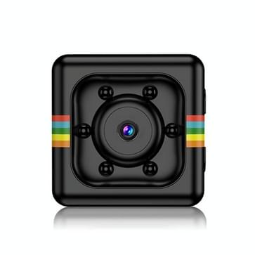 SQ11 Mini DV-HD 1080P 2MP Sport Recorder Camera met houder  ondersteunen Monitor detectie & IR nachtzicht & TF Card(Black)