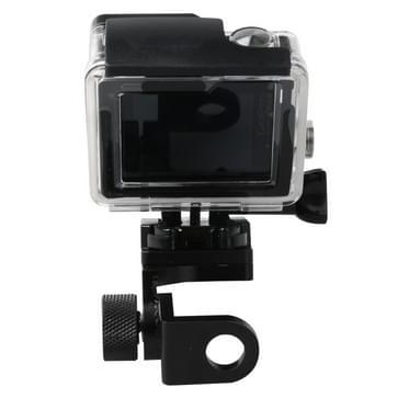 Motorfiets vaste stent houder achteruitkijk spiegel van CNC Aluminum Alloy voor HERO 4/5 SESSION / (2018) 7 / 6 / 5 / 4 / 3+ / 3 / 2 / 1, Xiaomi Xiaoyi, SJCAM Camera(zwart)
