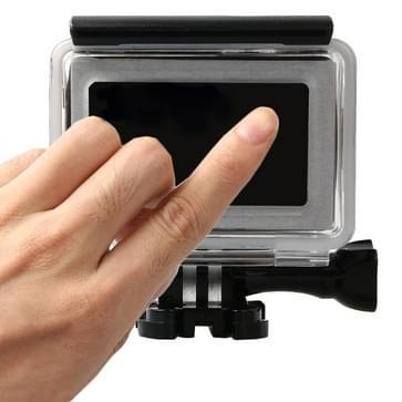 Touch Screen beschermende behuizing met basis gesp bevestiging & schroeven voor Xiaomi Xiaoyi II 4K Camera, Waterdicht tot diepte van: 45m