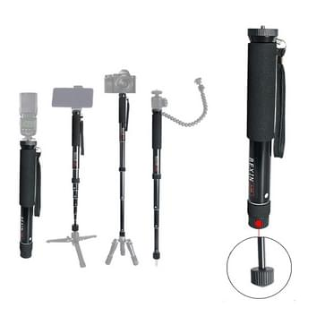 BEXIN P308 Portable Travel Outdoor DSLR Camera Aluminium Alloy Monopod Holder (Zwart)