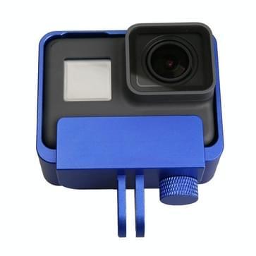 Cover voor GoPro HERO5 Aluminium Alloy Border Frame Mount beschermende behuizing(donker blauw)