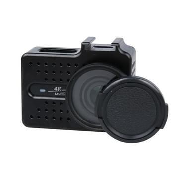 Xiaomi Xiaoyi Yi II 4K Sport Actie Camera CNC Aluminium Alloy Housing beschermende behuizing met Lens beschermings Cap(zwart)