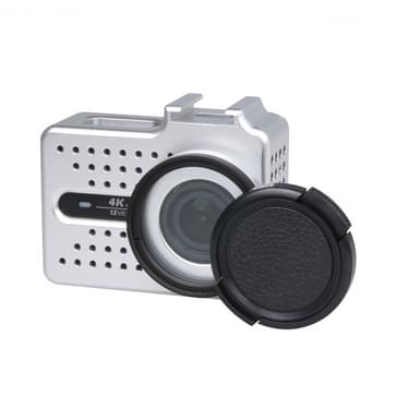 Xiaomi Xiaoyi Yi II 4K Sport Actie Camera CNC Aluminium Alloy Housing beschermende behuizing met lens beschermings Cap(zilver)