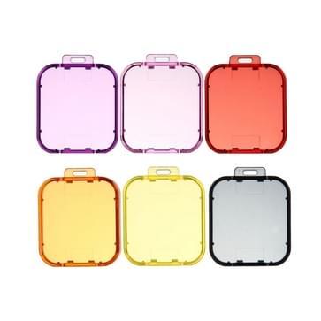 6 in 1 Professionele gekleurde lens filter set (Rood + geel + paars + roze + oranje + grijs) voor GoPro HERO5 Sport Actie Camera