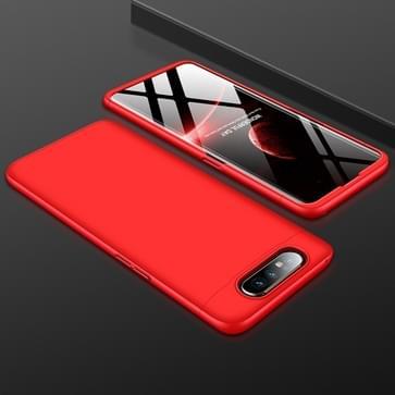 GKK drie fase splicing volledige dekking PC Case voor Galaxy A80 (rood)
