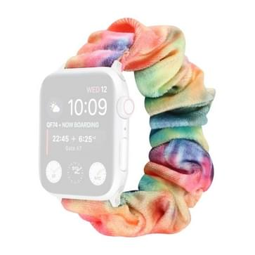 Flanel Hair Ring Vervangende Band Watchband Voor Apple Watch Series 6 & SE & 5 & 4 44mm / 3 & 2 & 1 42mm(17)