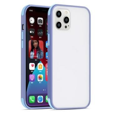 Semi Transparante Frosted Series Shockproof Beschermhoes voor iPhone 12 mini (Grijs+lichtblauwe knoppen)