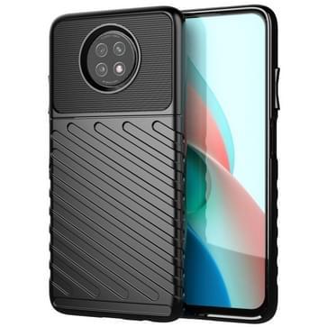 Voor Samsung Galaxy A12 Thunderbolt Schokbestendige TPU Beschermende softcase(zwart)