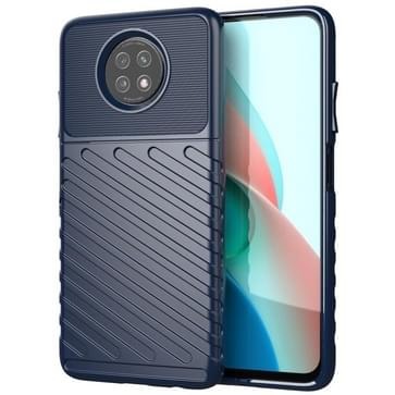 Voor Samsung Galaxy A12 Thunderbolt Shockproof TPU Beschermende softcase(blauw)
