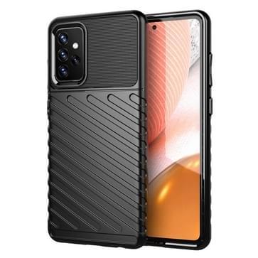 Voor Samsung Galaxy A72 5G Thunderbolt Schokbestendige TPU Beschermende softcase(zwart)