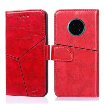 Voor Huawei Mate 30 Geometrische stiksels horizontale flip TPU + PU lederen hoes met houder & kaartslots & portemonnee(rood)