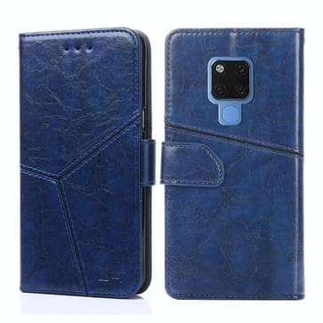 Voor Huawei Mate 20 Geometrische stiksels horizontale flip TPU + PU lederen hoes met houder & kaartslots & portemonnee(blauw)